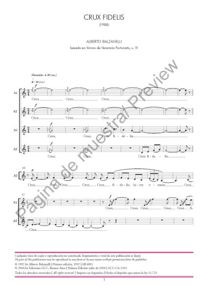 Crux fidelis (Alberto Balzanelli - coro femenino)