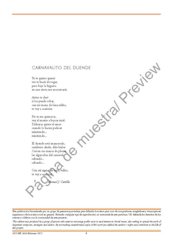Carnavalito del duende (coro mixto SAB)