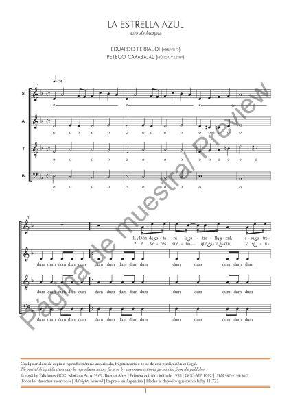 La estrella azul (coro mixto)
