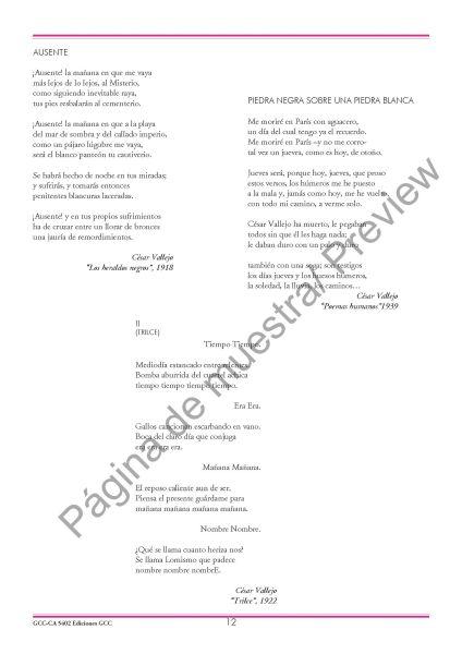 Tres canciones de César Vallejo