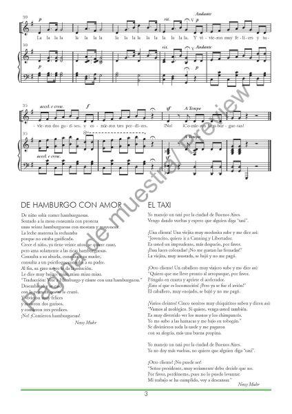 Tres canciones para niños en la primaria