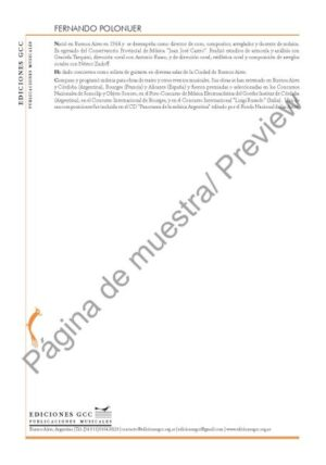 Volver (Fernando Polonuer - coro mixto SAB)