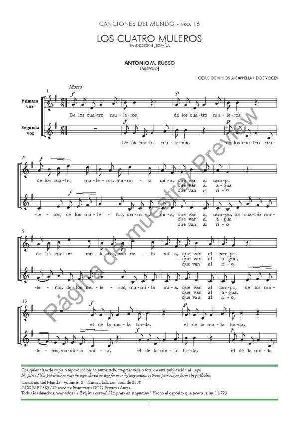 Canciones del mundo - volumen 2
