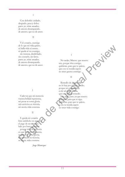 Tres Canciones de Jorge Manrique